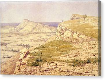 View Of The Island Of Rhodes Canvas Print by Richard Dadd