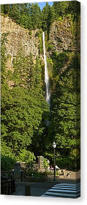 View Of The Multnomah Falls, Columbia Canvas Print by Panoramic Images