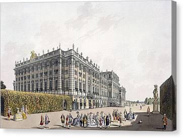 View Of The Palace Of Schoenbrunn Canvas Print by Laurenz Janscha