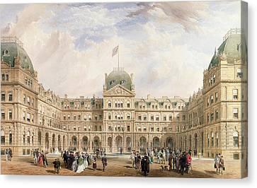 View Of The Quadrangle Of The New Canvas Print by Thomas Wyatt Wyatt