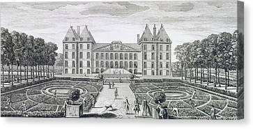 View Of The Royal Chateau Of Saint Maur From The Garden  Canvas Print by Jacques Rigaud
