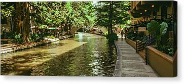 View Of The San Antonio River Walk, San Canvas Print by Panoramic Images