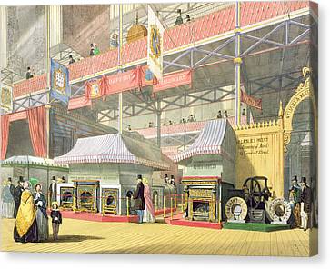 View Of The Sheffield Hardware Stand Canvas Print by English School
