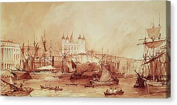 View Of The Tower Of London Canvas Print by William Parrott