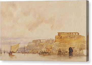 View Of Valetta Canvas Print by James Holland