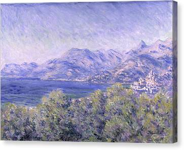 View Of Ventimiglia, 1884 Canvas Print by Claude Monet