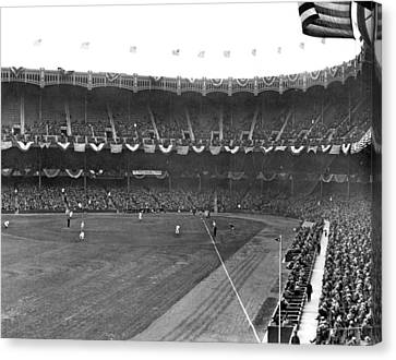 View Of Yankee Stadium Canvas Print by Underwood Archives