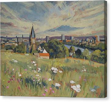 View On Maastricht Canvas Print by Nop Briex