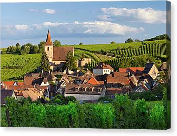 View Over Town Of Hunawihr Canvas Print by Brian Jannsen