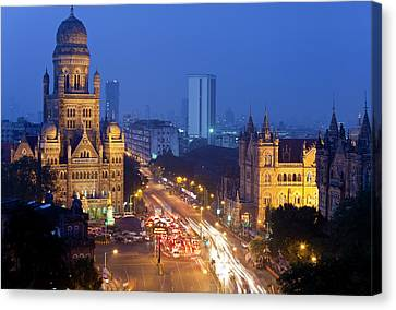 View Over Victoria Terminus Or Canvas Print by Peter Adams