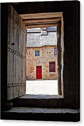 View Through The Old Door Canvas Print by Gill Billington