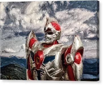 View Wth A Robot Canvas Print by Jeff  Gettis