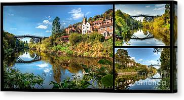 Views Of Ironbridge Canvas Print by Adrian Evans
