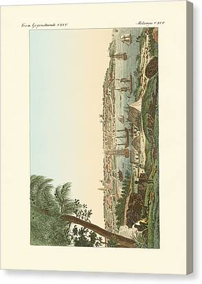 Views Of The City Of Sydney Canvas Print by Splendid Art Prints