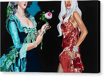 Vigee Lebrun And Gaga Canvas Print by Marcella Lassen