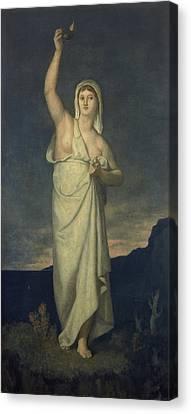 Vigilance, 1867 Oil On Canvas Canvas Print by Pierre Puvis de Chavannes