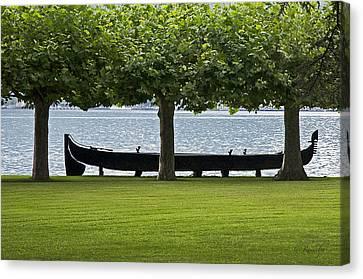 Viking Boat Canvas Print by Cheri Randolph