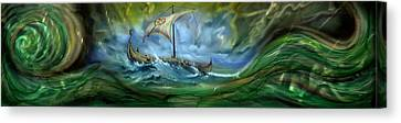 Viking Raiders Canvas Print by Luis  Navarro