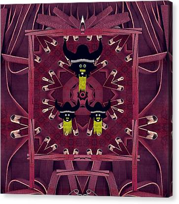 Vikings  And Leather Pop Art Canvas Print by Pepita Selles