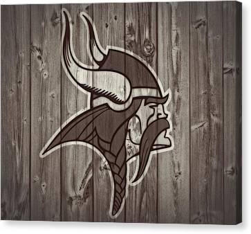 Vikings Barn Door Canvas Print by Dan Sproul