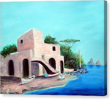 Villa Capri Canvas Print by Larry Cirigliano