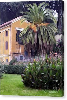Villa Rome Photoart Canvas Print by Lutz Baar