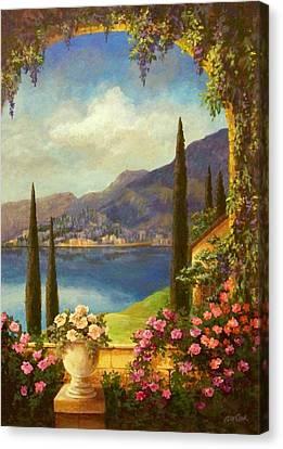 Villa Rosa Canvas Print by Evie Cook