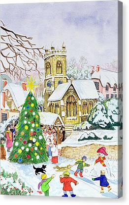 Village Festivities Canvas Print by Tony Todd