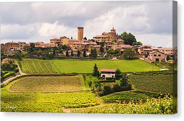 Village In French Countryside Canvas Print by Allen Sheffield