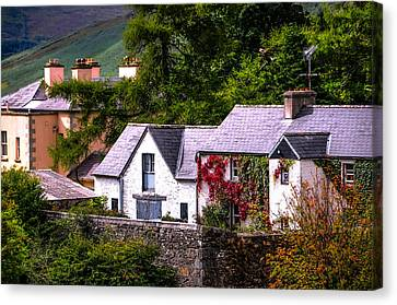 Village In The Wicklow. Ireland Canvas Print by Jenny Rainbow