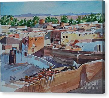 Village Canvas Print by Mohamed Fadul