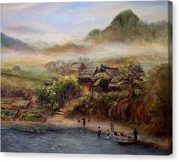Village Canvas Print by Sompaseuth Chounlamany