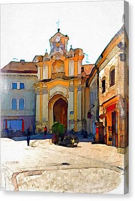 Vilnius Old Town 33 Canvas Print by Yury Malkov
