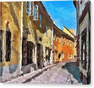 Vilnius Old Town 35 Canvas Print by Yury Malkov