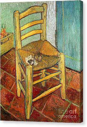 Vincent's Chair 1888 Canvas Print by Vincent van Gogh