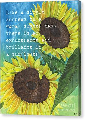Vince's Sunflowers 1 Canvas Print by Debbie DeWitt