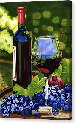 Vino Canvas Print by Cory Still