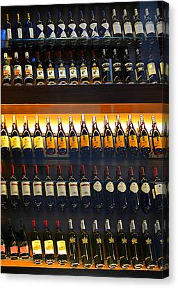 Vino Canvas Print by Laura Fasulo