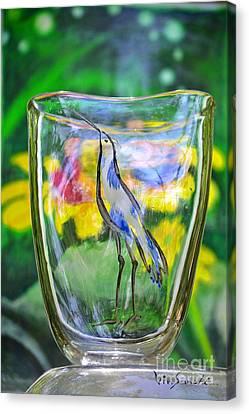 Vinsanchi Glass Art-2 Canvas Print by Vin Kitayama