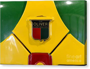 Vintage 1950 Oliver Tractor Emblem Canvas Print by Paul Ward