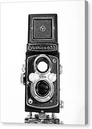 Vintage 1950s Yashica 635 Camera Canvas Print by Jon Woodhams