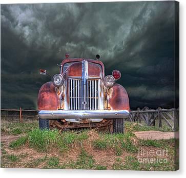 Vintage American Lafrance Fire Truck Canvas Print by Juli Scalzi