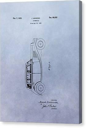 Vintage Automobile Patent Canvas Print by Dan Sproul