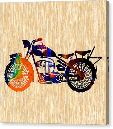 Vintage Bike Canvas Print by Marvin Blaine