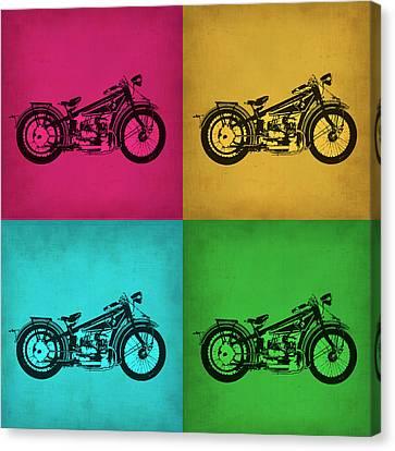 Vintage Bike Pop Art 1 Canvas Print by Naxart Studio