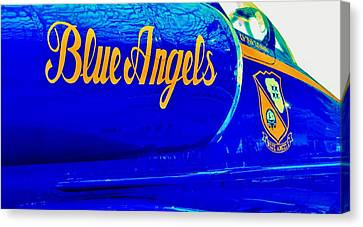 Vintage Blue Angel Canvas Print by Benjamin Yeager
