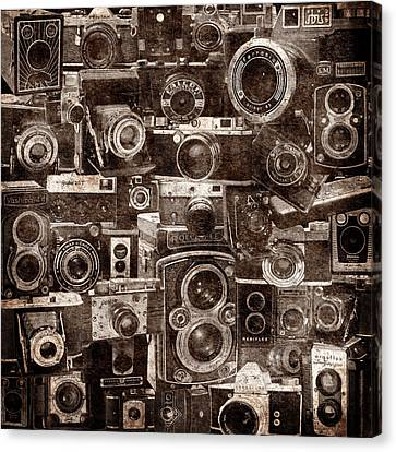 Vintage Camera Montage 2 Canvas Print by Andrew Fare