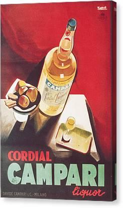 Vintage Campari Canvas Print by Georgia Fowler