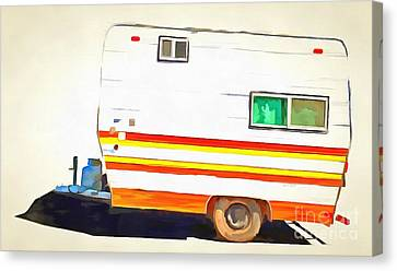 Vintage Camping Trailer Pop Canvas Print by Edward Fielding