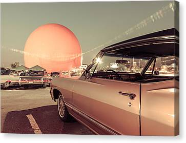 Vintage Car Meet At The Julep Canvas Print by Martin New